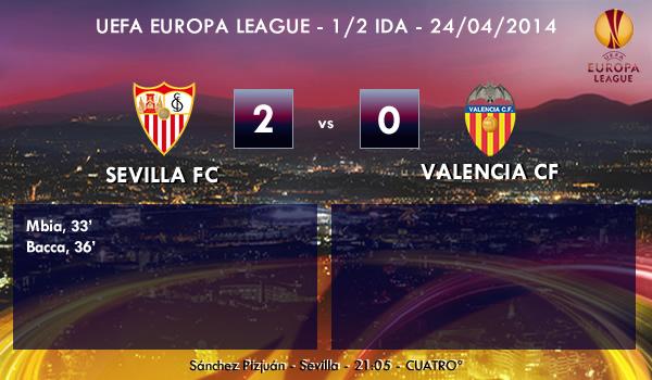 UEFA Europa League – 1/2 IDA – 24/04/2014 – Sevilla 2 vs 0 Valencia