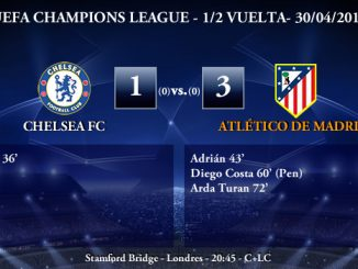 UEFA Champions League - 1/2 VUELTA - 30/04/2014 - Chelsea 1 vs 3 Atlético de Madrid