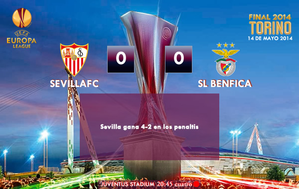 UEFA Europa League - FINAL - 14/05/2014 - Sevilla 0(4) vs (2)0 Benfica