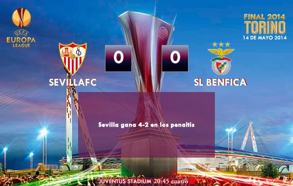 UEFA Europa League – FINAL – 14/05/2014 – Sevilla 0(4) vs (2)0 Benfica