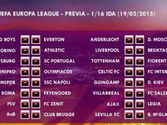 UEFA Europa League – 1/16 IDA – 19/02/2015 - Previa