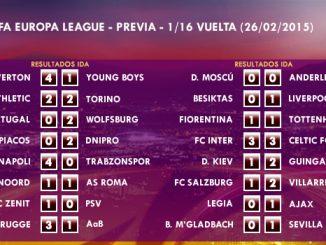 UEFA Europa League – 1/16 VUELTA – 19/02/2015 - Previa