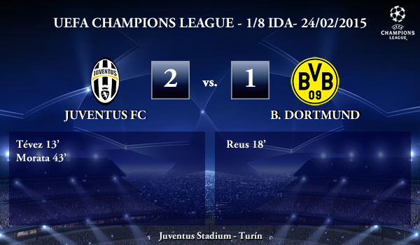 UEFA Champions League – 1/8 IDA – 24/02/2015 – Juventus 2-1 B. Dortmund