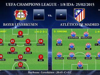 UEFA Champions League – 1/8 IDA – 25/02/2015 – Bayer Leverkusen vs Atlético de Madrid