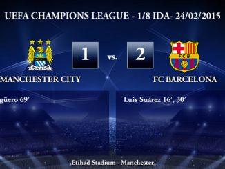 UEFA Champions League – 1/8 IDA – 24/02/2015 – Manchester City vs FC Barcelona