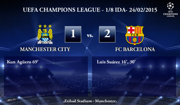 UEFA Champions League – 1/8 IDA – 24/02/2015 – Manchester City vs FC Barcelona