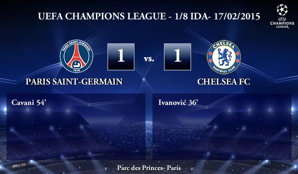 UEFA Champions League – 1/8 IDA – 17/02/2015 – PSG 1-1 Chelsea
