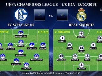 UEFA Champions League – 1/8 IDA – 18/02/2015 – Schalke 04 vs Real Madrid