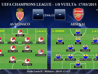 UEFA Champions League – 1/8 VUELTA – 17/03/2015 – Mónaco vs Arsenal