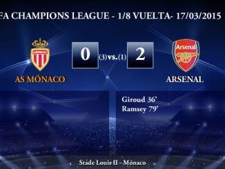 UEFA Champions League – 1/8 VUELTA – 17/03/2015 – Mónaco 0-2 Arsenal