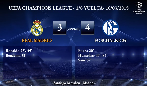 UEFA Champions League – 1/8 VUELTA – 10/03/2015 – Real Madrid 3-4 Schalke 04