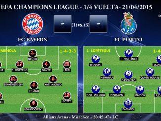 UEFA Champions League – 1/4 VUELTA – 21/04/2015 – FC Bayern vs FC Porto