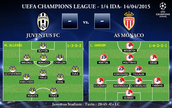 UEFA Champions League – 1/4 IDA – 14/04/2015 – Juventus vs Mónaco