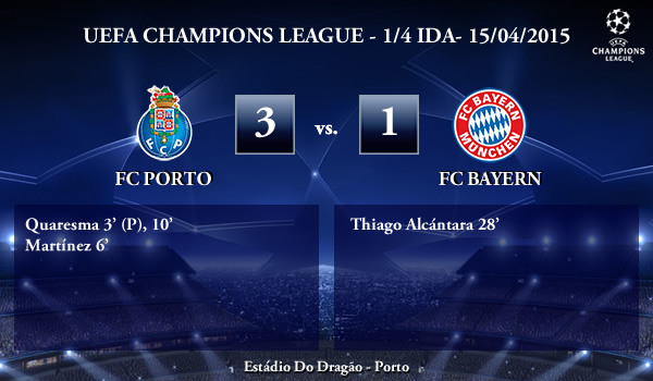 UEFA Champions League – 1/4 IDA – 15/04/2015 – FC Porto 3-1 FC Bayern