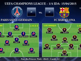 UEFA Champions League – 1/4 IDA – 15/04/2015 – PSG vs FC Barcelona