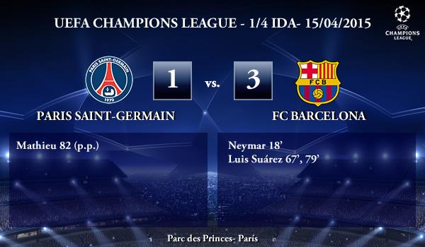 UEFA Champions League – 1/4 IDA – 15/04/2015 – PSG 1-3 FC Barcelona