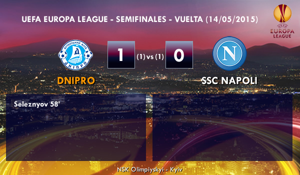 UEFA Europa League – Semifinales VUELTA – 14/05/2015 – Dnipro 1-0 Napoli