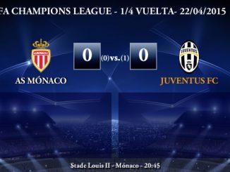 UEFA Champions League – 1/4 VUELTA – 22/04/2015 – Mónaco 0-1 Juventus