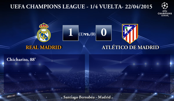 UEFA Champions League – 1/4 VUELTA – 22/04/2015 – Real Madrid 1-0 Atlético de Madrid