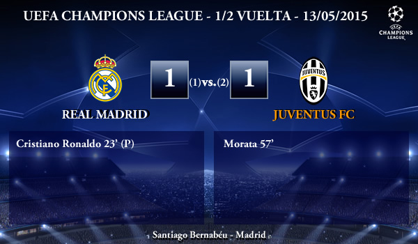 UEFA Champions League – Semifinales VUELTA – 13/05/2015 – Real Madrid 1-1 Juventus