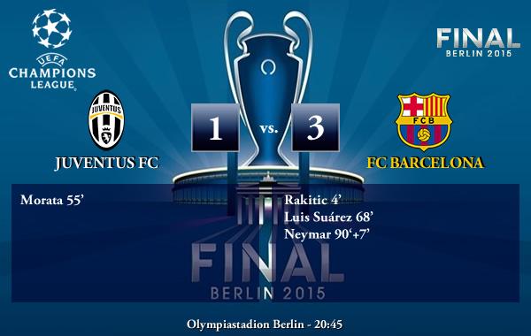 UEFA Champions League FINAL Berlín – Juventus FC 1-3 FC Barcelona
