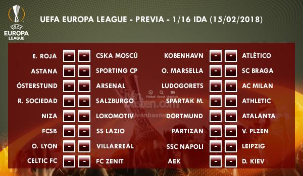 UEFA Europa League 1/16 IDA Previa