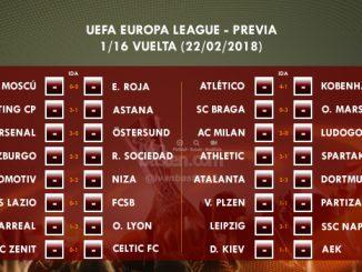 UEFA Europa League - 1/16 VUELTA - Previa