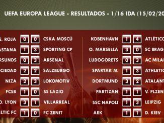 UEFA Europa League - 1/16 IDA - Resultados