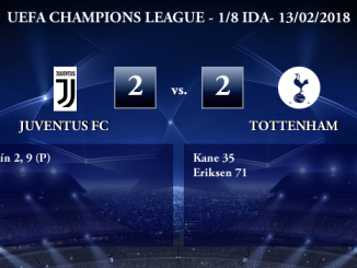 UEFA Champions League – 1/8 IDA – Juventus 2-2 Tottenham