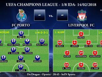 UEFA Champions League – 1/8 IDA – FC Porto vs Liverpool FC