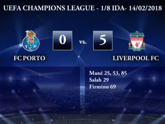 UEFA Champions League – 1/8 IDA – FC Porto 0-5 Liverpool FC