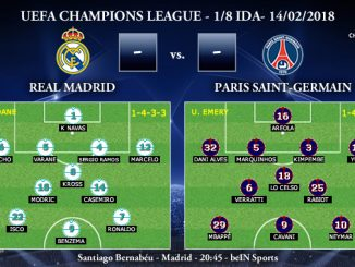 UEFA Champions League – 1/8 IDA – Real Madrid vs Paris Saint-Germain