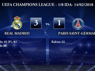 UEFA Champions League – 1/8 IDA – Real Madrid 3-1 Paris Saint-Germain