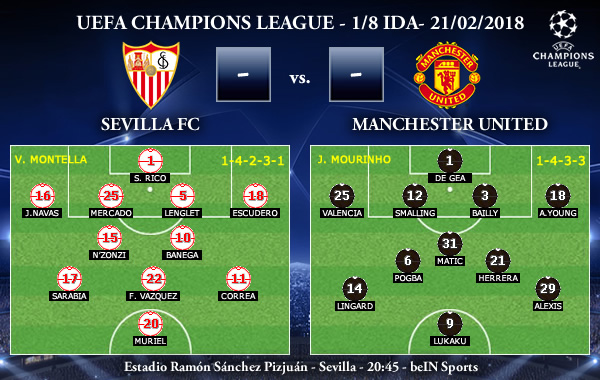 UEFA Champions League – 1/8 IDA – Sevilla vs Manchester United