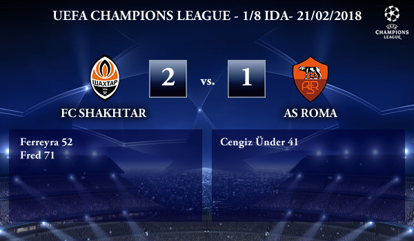 UEFA Champions League – 1/8 IDA – Shakhtar 2-1 AS Roma