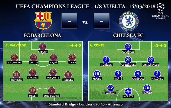UEFA Champions League – 1/8 VUELTA – FC Barcelona vs Chelsea