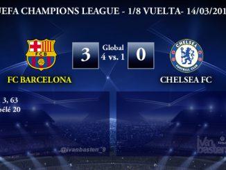 UEFA Champions League – 1/8 VUELTA – FC Barcelona 3-0 Chelsea