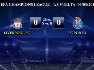 UEFA Champions League – 1/8 VUELTA – Liverpool FC 0-0 FC Porto