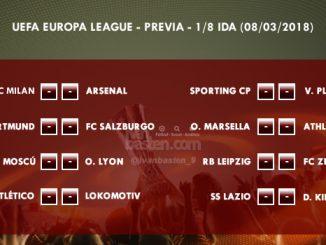 UEFA Europa League - 1/8 IDA - Previa