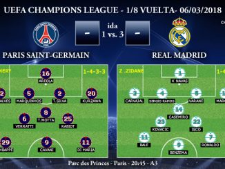 UEFA Champions League – 1/8 VUELTA – Paris Saint-Germain vs Real Madrid