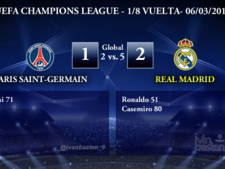 UEFA Champions League – 1/8 VUELTA – Paris Saint-Germain 1-2 Real Madrid