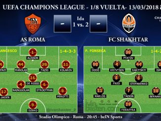 UEFA Champions League – 1/8 VUELTA – AS Roma vs Shakhtar