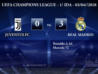 UEFA Champions League – 1/4 IDA – Juventus 0-3 Real Madrid