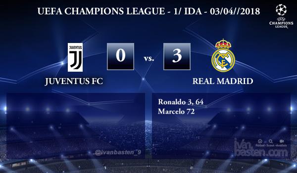 UEFA Champions League – 1/4 IDA – Juventus 0-3 Real Madrid