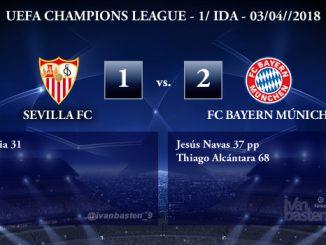 UEFA Champions League – 1/4 IDA – Sevilla 1-2 Bayern Múnich