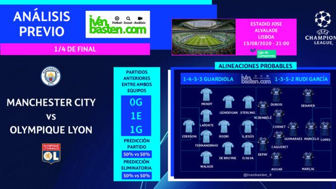 Champions League 19-20 - 1/4 de final – Manchester City vs FC O. Lyon