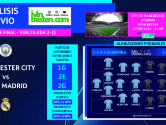 Champions League 19-20 - 1/8 VUELTA – Manchester City vs Real Madrid