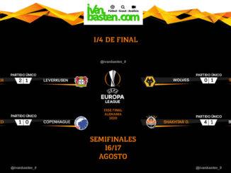 Europa League 19-20 – Resultados 1/4 de final